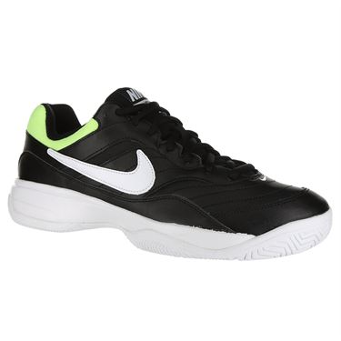 Nike Court Lite Wide Mens Tennis Shoe - Black/White/Volt Glow