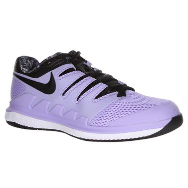 Nike Air Zoom Vapor X Wide Womens Tennis Shoe - Purple Agate/Black/White/Hyper Crimson