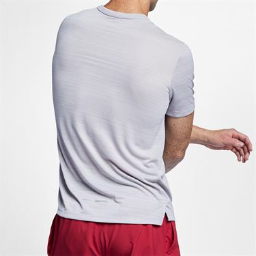Nike Dri Fit Miler Crew - Atmosphere Grey Heather/Reflective Silver