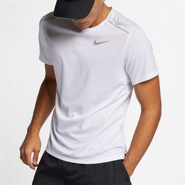 Nike Dri Fit Miler Crew - White/Reflective Silver