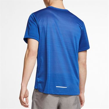 Nike Dri Fit Miler Crew - Indigo Force/Blue Void/Reflective Silver