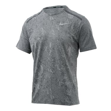 Nike Dri Fit Miler Crew - Black Heather/White