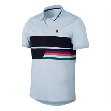 Nike Court Advantage Classic Polo - Half Blue/Black