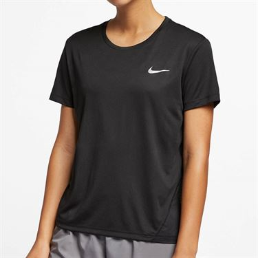 Nike Miler Top - Black/Reflective Silver