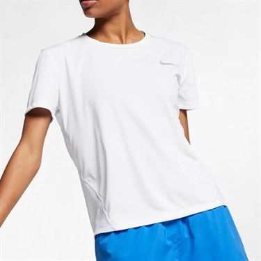 Nike Miler Top - White/Reflective Silver