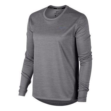 Nike Miler Long Sleeve Top - Gunsmoke Heather/Reflective Silver