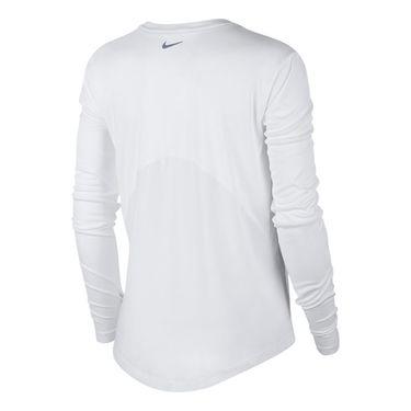 Nike Miler Long Sleeve Top - White/Reflective Silver
