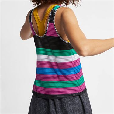 Nike Court Dry Tank - Active Fuchsia/Black/White