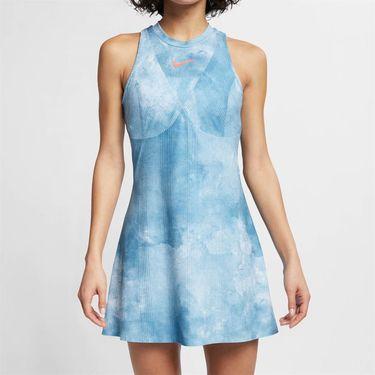 Nike Court Dry Maria Dress - Light Armory Blue/Bright Crimson