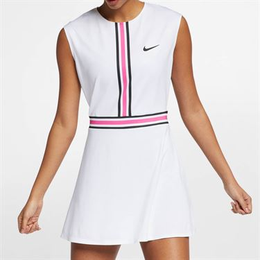 Nike Court Dry Dress - White/Laser Fuchsia/Black