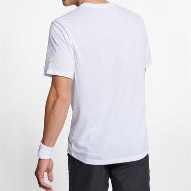 Nike Court Dri Fit Rafa Tee - White/ Laser Orange