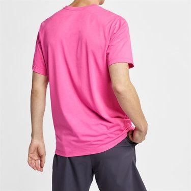 Nike Court Dri Fit Rafa Tee - Laser Fuchsia/White