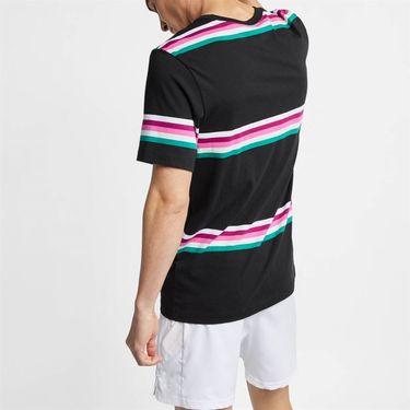 Nike Court Heritage Stripe Tee - Black/Multi Color