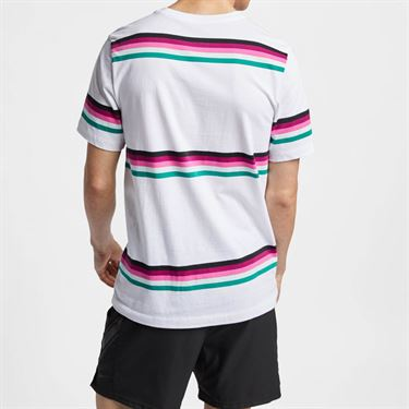 Nike Court Heritage Stripe Tee - White/Multi Color