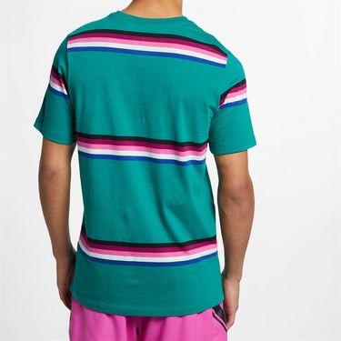 Nike Court Heritage Stripe Tee - Mystic Green/Multi Color