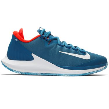 Nike Court Air Zoom Zero Premium Womens Limited Edition Tennis Shoe - Industrial Blue/White/Bright Crimson