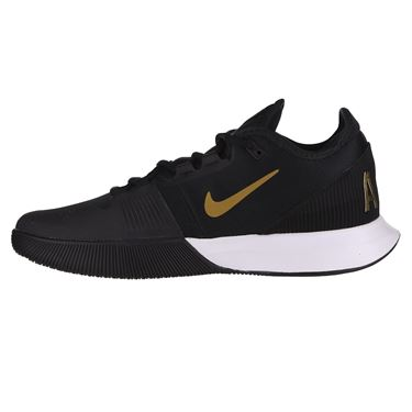 Nike Court Air Max Wildcard Mens Tennis Shoe Black/Metallic Gold/White AO7351 012