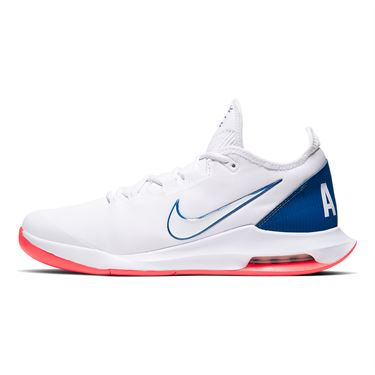 Nike Court Air Max Wildcard Mens Tennis Shoe White/Game Royal/Flash Crimson AO7351 103