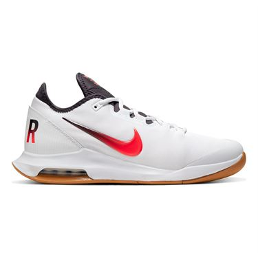 Nike Court Air Max Wildcard Mens Tennis Shoe White/Laser Crimson/Gridiron/Wheat AO7351 105