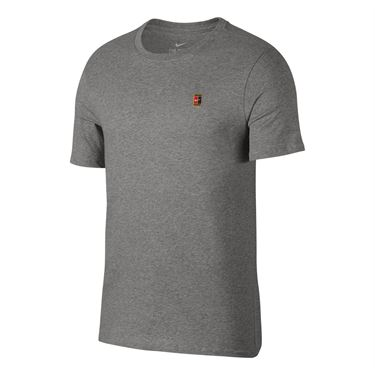 Nike Court Logo Tee - Dark Grey Heather