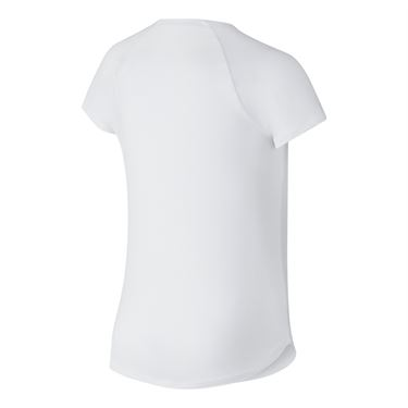 Nike Girls Court Pure Tennis Top - White/Black