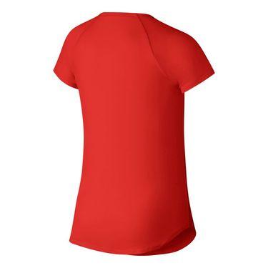Nike Girls Court Pure Tennis Top - Habanero Red/White