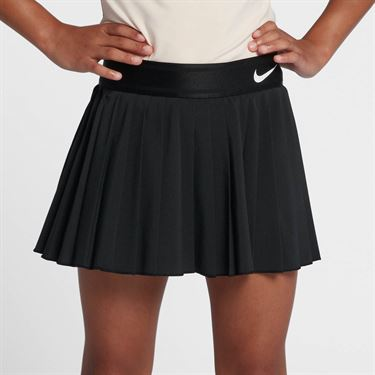Nike Girls Court Victory Skirt - Black/White