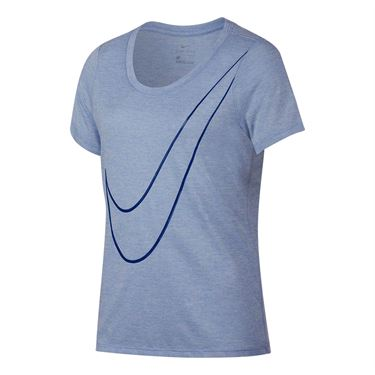 Nike Girls Dry Top - Aluminum/Indigo Force