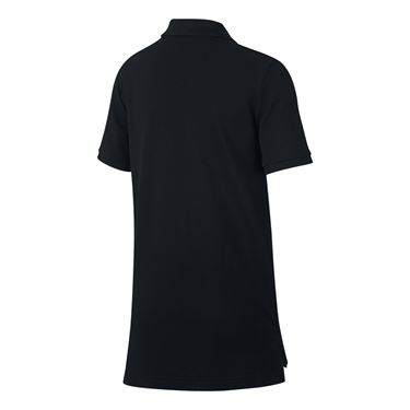 Nike Boys Court Polo - Black/White