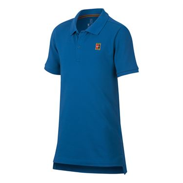 Nike Boys Court Polo - Military Blue/White