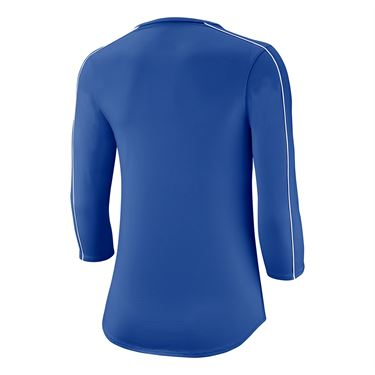 Nike Court 3/4 Sleeve Top Womens Game Royal/White AQ7658 480