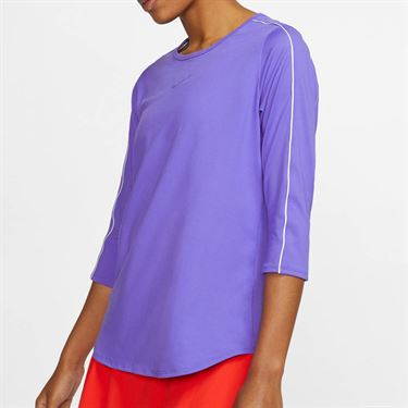 Nike Court 3/4 Sleeve Top - Psychic Purple/White