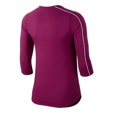 Nike Court 3/4 Sleeve Top - True Berry/White