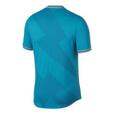 Nike Rafa Aeroreact Jacquard Shirt - Light Blue Fury/Obsidian