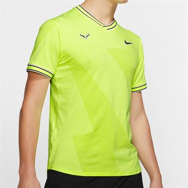 Nike Rafa Aeroreact Jacquard Shirt - Volt Glow/Light Carbon