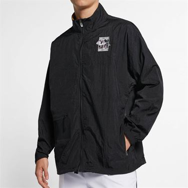 Nike Court Stadium 2 Full Zip Jacket - Black/White