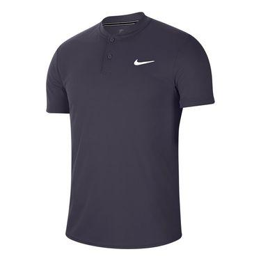 Nike Court Dry Blade Polo Shirt Mens Gridiron/White AQ7732 015