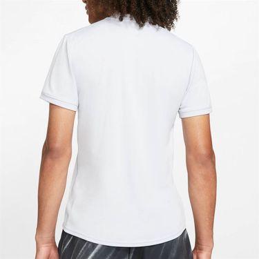 Nike Court Dry Shirt Mens Sky Grey/White AQ7732 042