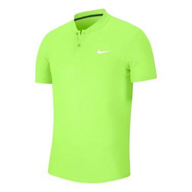 Nike Court Dri Fit Blade Polo Shirt Mens Ghost Green/White AQ7732 358