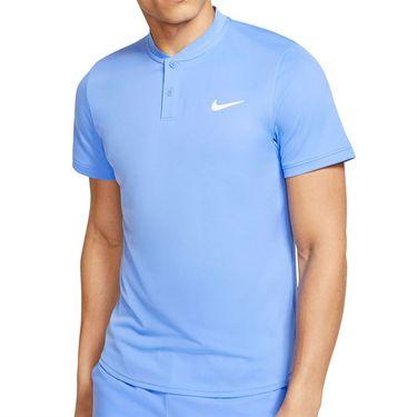 Nike Court Dri Fit Blade Polo Shirt Mens Royal Pulse/White AQ7732 478