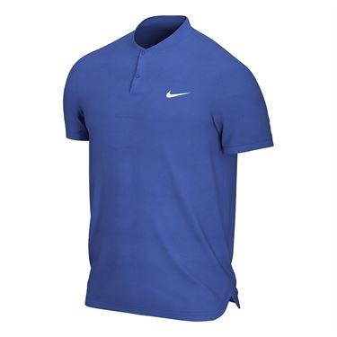 Nike Court Dry Blade Polo Shirt Mens Game Royal/White AQ7732 480