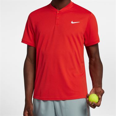 Nike Court Dry Blade Polo - Habanero Red/White