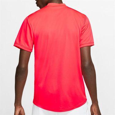 Nike Court Dry Blade Polo Shirt Mens Laser Crimson/White AQ7732 644