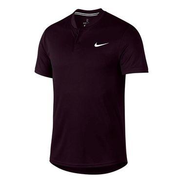 Nike Court Dry Blade Polo - Burgundy Ash/White