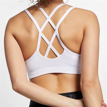 Nike Favorites Strappy Sports Bra - White/Pure Platinum