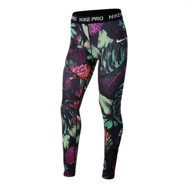 Nike Girls Pro Tight - Frosted Spruce/ Black/White