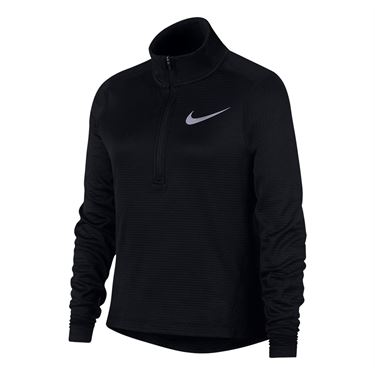Nike Girls 1/2 Zip Top - Black/Reflective Silver
