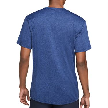 Nike Dry Tee Shirt Mens Obsidian/Game Royal/Heather/Black AR0196 451