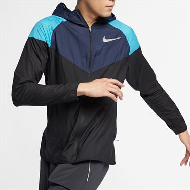 Nike Windrunner Jacket - Black/Obsidian/Reflective Silver