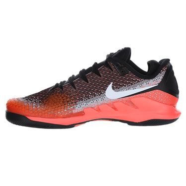 Nike Air Zoom Vapor X Knit Mens Tennis Shoe - Black/White/Dark Grey/Hot Lava